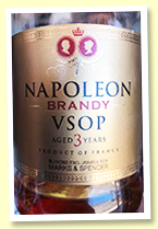 Napoleon Brandy VSOP 'aged 3 years' (40%, 'Blended exclusively for Marks & Spencer')