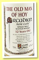 Old Man of Hoy 2005/2018 (60.7%, Blackadder, Raw Cask, hogshead, cask #2018-1, 352 bottles)