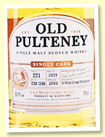 Old Pulteney 2004/2019 (50.9%, OB for The Whisky Exchange 20th Anniversary, cask #221, barrel, 246 bottles)