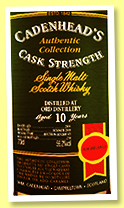 Ord 10 yo 2008/2019 (56.2%, Cadenhead, Authentic Collection, bourbon hogshead, 234 bottles)