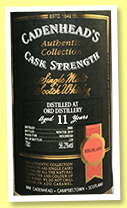 Ord 11 yo 2008/2019 (56.2%, Cadenhead, Authentic Collection, bourbon hogshead, 228 bottles)
