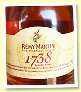 Remy Martin '1738 Accord Royal' (40%, OB, cognac, -/+ 2019)