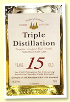 Rosebank 15 yo 'Triple Distillation' (58.2%, Glencara, 1990s)