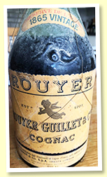 Rouyer Guillet 1865 (42%, OB 'AA Baker import', bottled circa 1960)