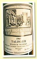 Talisker 1960/1979 (75 proof, Berry Brothers & Rudd)