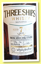 Three Ships 7 yo (55.1%, OB for Whisky Brothers, South Africa, Moscato cask finish, 716 bottles, +/-2020)