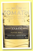 Tomatin 'Five Virtues – Earth' (46%, OB, +/-2019)
