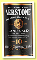 Aerstone 10 yo 'Land Cask' (40%, William Grant, single malt, +/-2019)