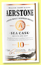 Aerstone 10 yo 'Sea Cask' (40%, William Grant, single malt, +/-2019)
