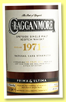 Cragganmore 48 yo 1971/2019 (43.7%, OB, Prima & Ultima, first fill sherry, cask #2301, 352 bottles)