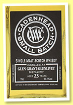 Glen Grant-Glenlivet 23 yo 1992/2016 (53.1%, Cadenhead, Small Batch, bourbon, 414 bottles)