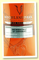 Highland Park 12 1/2 yo (56.9%, OB for The Whisky Vault 10th Anniversary bottled 2019, cask #500122, sherry seasoned firkin, 57 bottles)