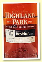 Highland Park 12 yo 2004/2017 (65.3%, OB for BevMo!, cask #6737, 1st fill European oak sherry butt, 360 bottles)