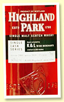 Highland Park 12 yo 2005/2018 (64.5%, OB for K&L Wine Merchants, cask #3294, refill hogshead, 253 bottles)