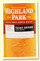 Highland Park 12 yo 2005/2018 (62.7%, OB Texas Edition, cask #3600, refill sherry butt, 600 bottles)