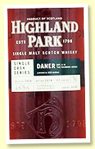 Highland Park 12 yo 2006/2018 (63.3%, OB Daner 'Edition 4', cask #3030, 1st fill European oak sherry butt, 623 bottles)