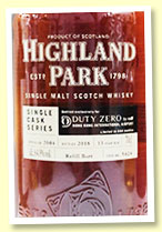 Highland Park 13 yo 2004/2018 (64.9%, OB for Duty Zero Hong Kong, cask #5424, refill butt, 644 bottles)