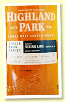 Highland Park 13 yo 2005/2018 (60.8%, OB for Viking Line 'Batch 4', cask #1294, 1st fill American oak sherry puncheon, 623 bottles)