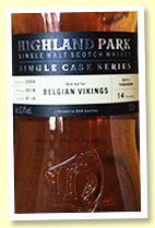 Highland Park 14 yo 2004/2018 (62.4%, OB for Belgian Vikings, cask #6116, refill sherry puncheon, 559 bottles)