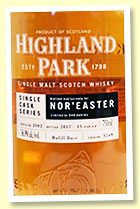 Highland Park 15 yo 2002/2017 (56.9%, OB for NOR'EASTER, cask #3249, refill sherry butt, 546 bottles)