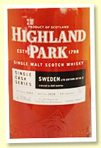 Highland Park 15 yo 2003/2018 (59.9%, OB for Sweden 'Ltd Edition 2018: 2', cask #4462, 1st fill American oak sherry puncheon, 600 bottles)