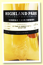 Highland Park 9 yo 2010/2020 (63.7%, OB for Dornoch Castle 20th Anniversary, cask #2051, 1st fill bourbon barrel, 232 bottles)