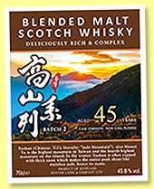 Blended Malt Scotch Whisky 45 yo 'Batch 2' (45.6%, Hunter Laing, for Taiwan, cask # HL 54376, 2018)