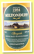 Miltonduff 1984/2014 (43%, Gordon & MacPhail, licensed label, refill bourbon barrels)