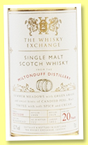 Miltonduff 20 yo 1999/2019 (50.7%, The Whisky Exchange, hogshead, cask #5015, 222 bottles)
