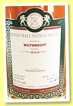 Miltonduff 2007/2018 (55.2%, Malts of Scotland, Marsala hogshead finish, cask #MoS18031, 307 bottles)