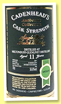Miltonduff-Glenlivet 11 yo 2007/2019 (56.6%, Cadenhead, Authentic Collection, bourbon hogshead, 180 bottles)