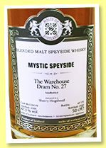 Mystic Speyside 2000/2020 (47.3%, Malts of Scotland, Warehouse Dram #27, blended malt, cask #MoS20019, sherry hogshead, 175 bottles)