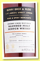 The Classic Range 'Batch 2' (44.2%, Berry Bros. & Rudd, sherry cask, +/-2019)