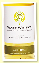 A Highland Distillery 10 yo 2010/2020 (58.4%, Watt Whisky, 280 bottles)