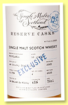 An Orkney Distillery 10 yo 2009/2020 'Reserve Casks' (48%, The Single Malts of Scotland for LMDW, 2020)