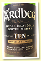 Ardbeg 10 yo (46%, OB, rotation 2003, for duty free, 1 litre)