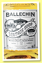 Ballechin 2009/2019 'Vintage' (46%, OB, First Fill bourbon barrels)