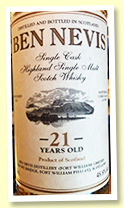 Ben Nevis 21 yo 1996 (48.8%, OB private bottling, cask #1407)