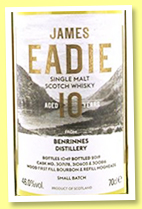 Benrinnes 10 yo (46%, James Eadie, Small Batch, 1049 bottles, 2019)