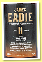 Benrinnes 11 yo 2009/2020 (56.1%, James Eadie, PX Cask Finish, cask #354550, 338 bottles)