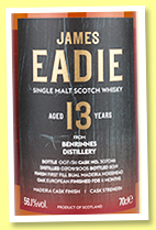 Benrinnes 13 yo 2005/2019 (56.1%, James Eadie, first fill Bual Madeira hogshead finish, cask #307046, 311 bottles)