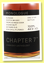 Blended Scotch 26 yo 1993/2019 (44.9%, Chapter 7, blended malt, sherry butt, cask #16, 618 bottles)