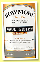Bowmore 'Vault Edition' (50.1%, OB, Second Release, 2019)