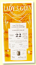 Caperdonich 22 yo 1997/2020 (60.5%, Lady Of The Glen, cask #19130, bourbon barrel, 171 bottles)