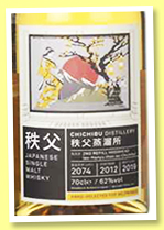 Chichibu 2012/2019 (62%, OB, for Selfridges, cask #2074, 200 bottles)