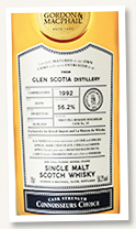 Glen Scotia 28 yo 1992/2020 (56.2%, Gordon & MacPhail for LMDW and Kirsch Import, Connoisseurs Choice, first fill remade sherry hogshead, cask #19, 150 bottles)