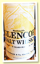 MacDonald's Glencoe 8 yo '100% Malt Pure Highland Malt Scotch Whisky' (100 proof, OB, R N MacDonald & Co, -/+ 1975)