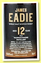 Mannochmore 12 yo 2008/2020 (53.6%, James Eadie, first fill oloroso hogshead finish, 307 bottles)