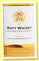 Mannochmore 12 yo 2008/2020 (54.8%, Watt Whisky)