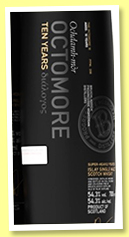 Octomore 10 yo 2009/2020 '4th Edition' (54.3%, OB, 12,000 bottles)